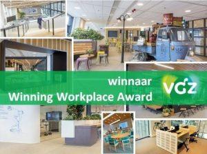 Trots: onze opdrachtgever VGZ is de winnaar van JLL's Winning Workplace Award 2017